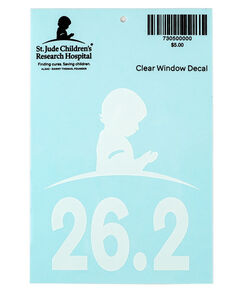 26.2 Marathon Clear Car Decal