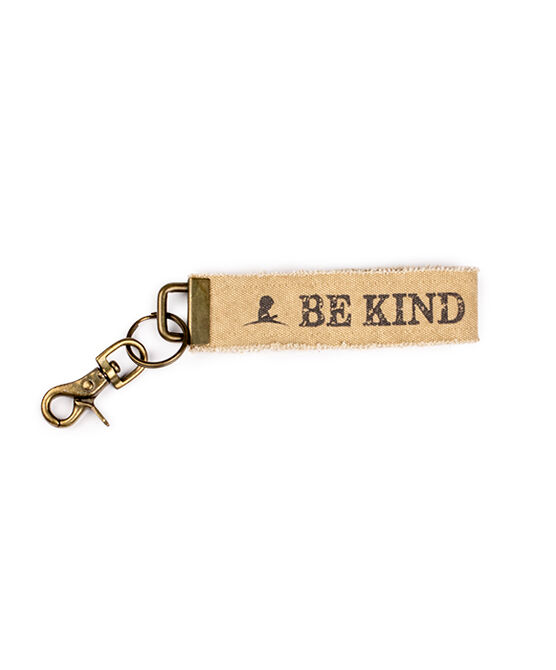 Be Kind Canvas Keychain