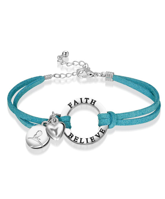 Ring Charm Leather Cord Bracelet