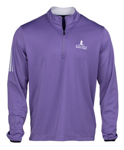 Men's Adidas Quarter Zip Purple Pullover
