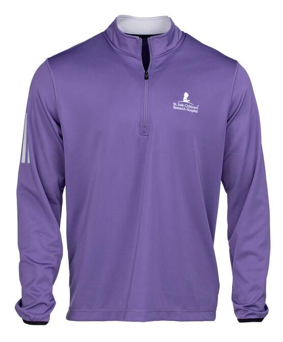 Men's Adidas Quarter Zip Purple Pullover