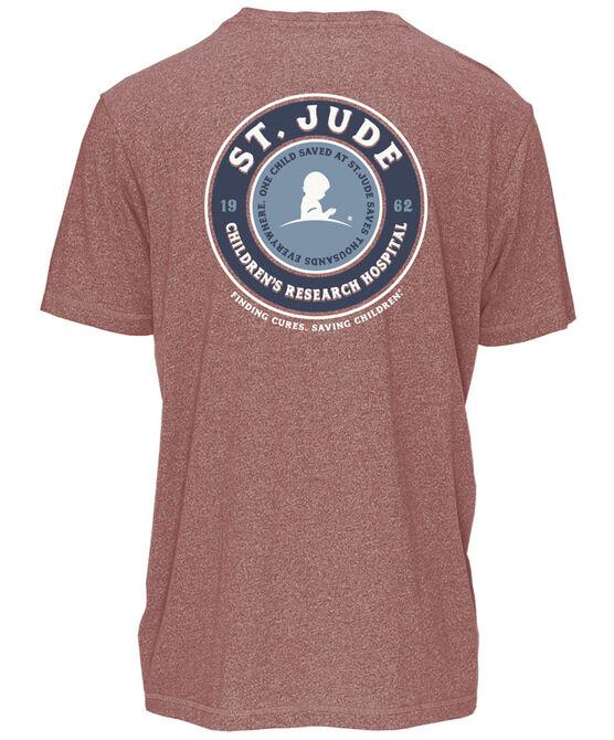 Circle Badge Back Design Short-Sleeve T-Shirt