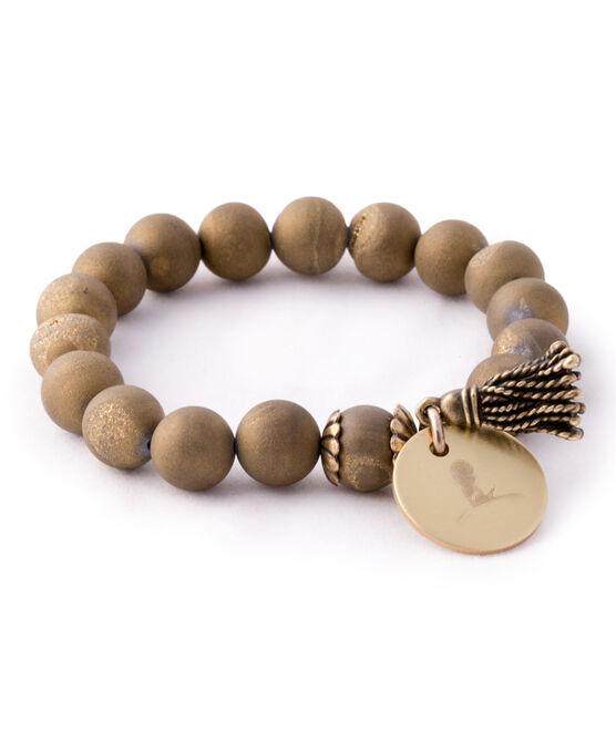 Gold Druzy Bead Bracelet
