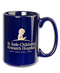 St. Jude Ceramic Coffee Mug - Navy