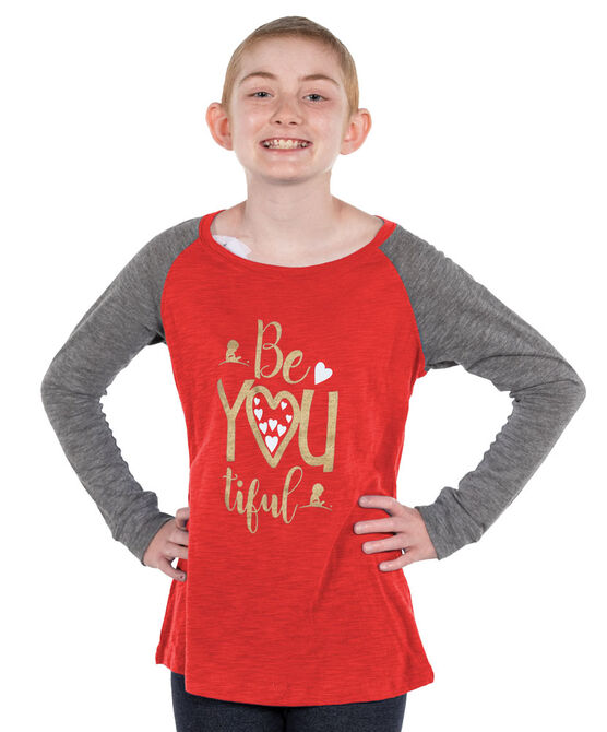 Youth BeYOUtiful Elbow Patch T-Shirt