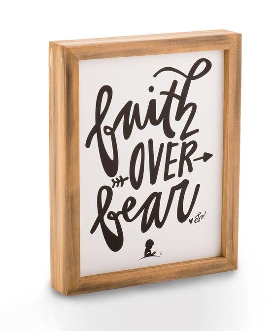 Faith Over Fear Box Sign