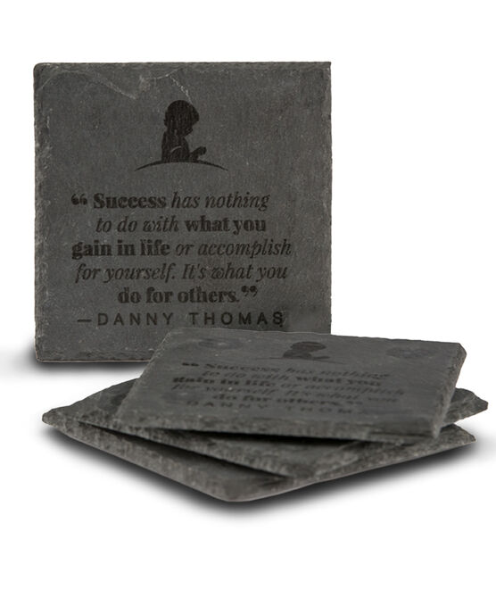 Danny Thomas Slate Coasters Set