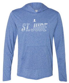 St. Jude Line Design Performance Hoodie T-Shirt