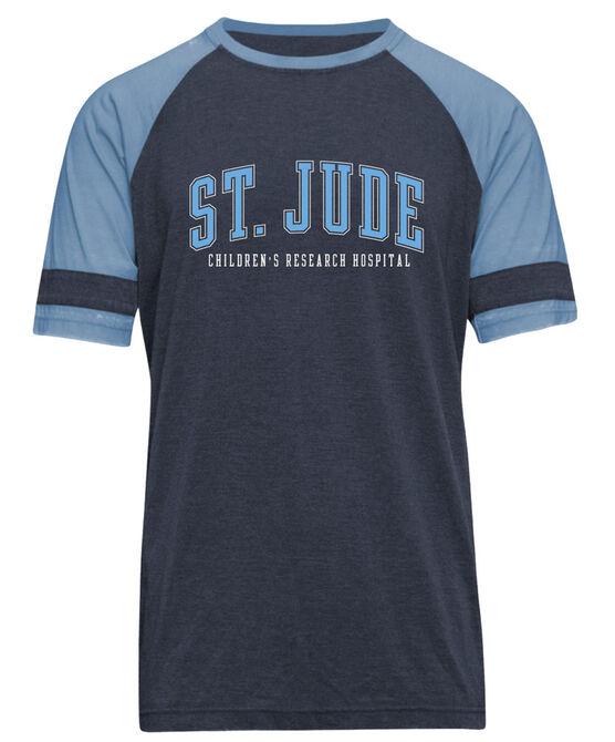 Arm Stripe Baseball-Style T-Shirt