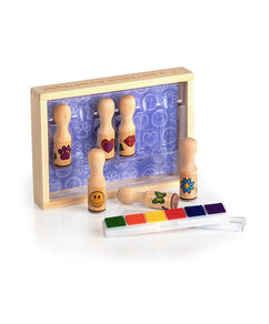 Happy Wooden Stamp Set