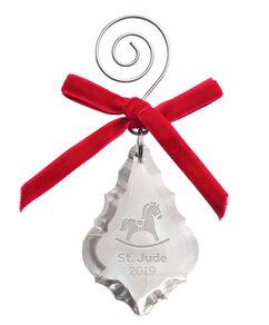 2019 Rocking Horse Crystal Ornament