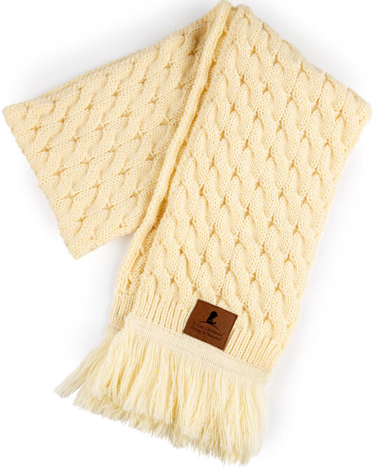 Cable Knit Cream Scarf
