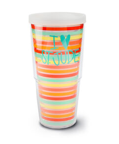I Love St Jude Striped Tervis Tumbler