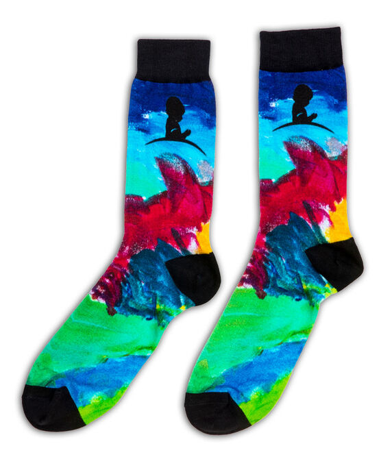 St. Jude Patient Art-Inspired Abstract Socks