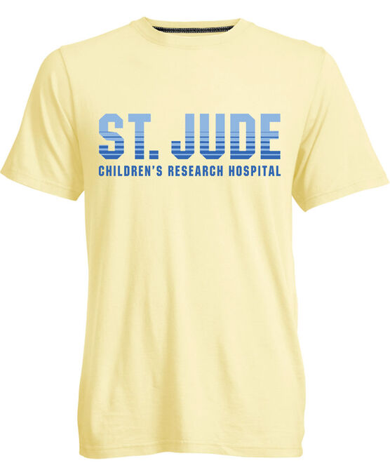 St. Jude Stripe Design Yellow TShirt