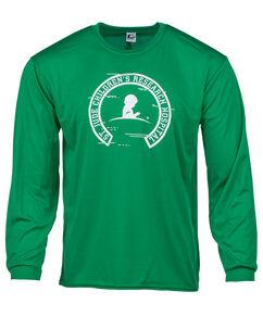 Unisex Long Sleeve Performance Green T-shirt