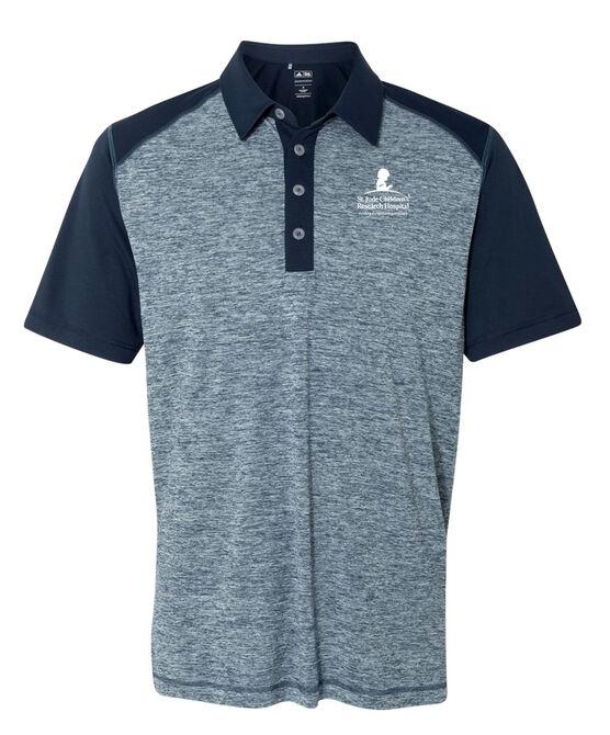 Adidas® Heather Colorblock Golf Polo