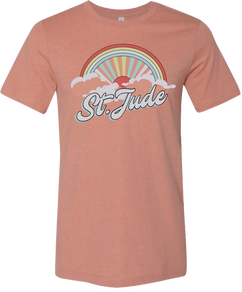 Women's Peach Cloudburst T-Shirt