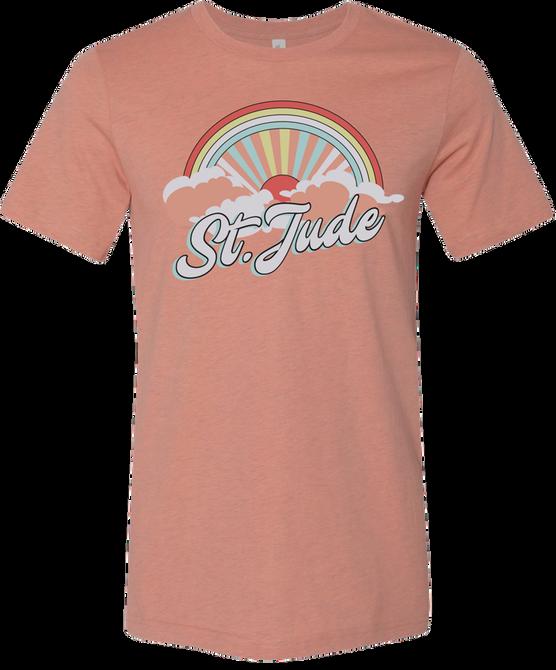Women's Peach Cloudburst T-Shirt