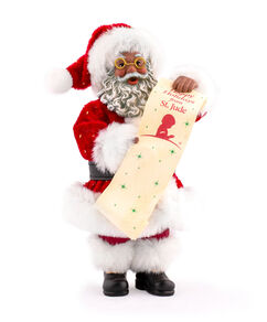 Santa with List African American Figurine