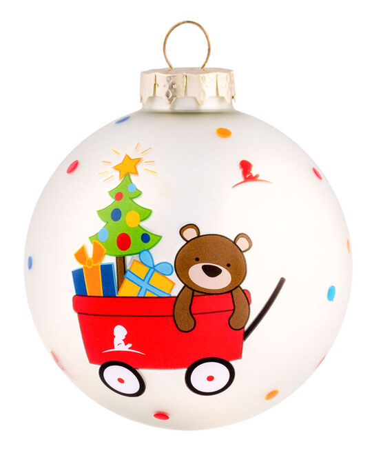 """Teddy Bear Wagon 3"""" Ornament"""