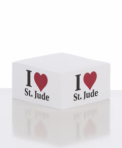 I Love St. Jude Post-It Cube