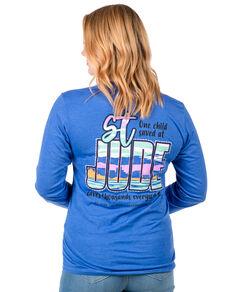 Unisex Blue St. Jude Skyline Back Design T-shirt