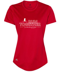 Women's Adidas Run Together Performance Red T-Shirt