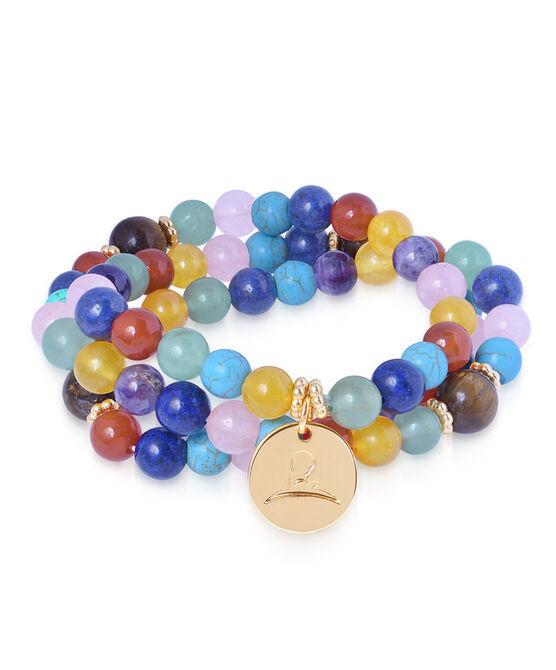 Multi Colored Wrap Bead Bracelet