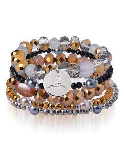 Multi-Strand Rust Color Beaded Bracelet