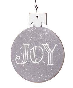 Joy Wood Ornament
