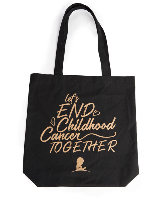 Let's End Childhood Cancer Together Canvas Tote