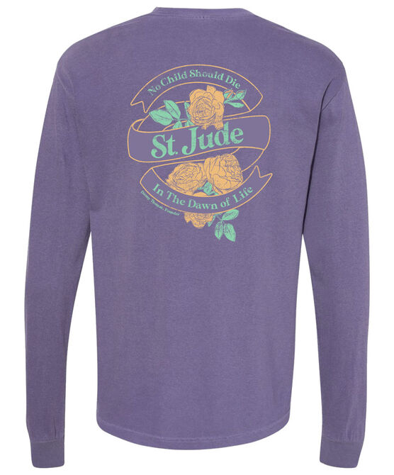 Dawn of Life Purple Floral Long-Sleeve T-Shirt