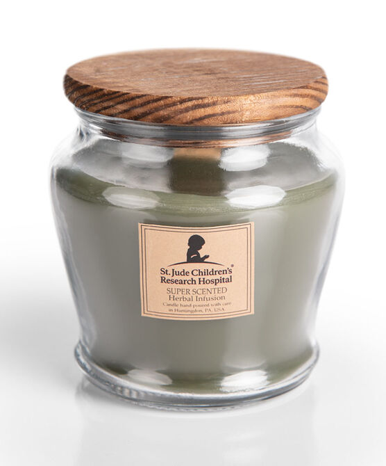 Wooden Wick Herbal Infusion Jar Candle