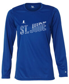 Women's St. Jude Line Design Performance Long-Sleeved T-shirt
