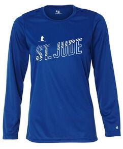 Women's St. Jude Line Design Performance Long-Sleeved T-shirt