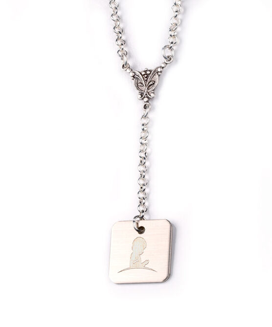Silver Butterfly Drop Necklace
