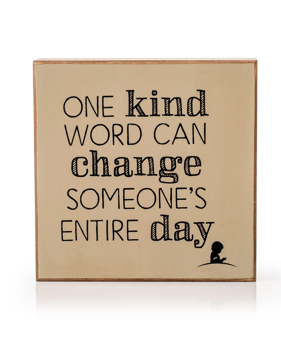 One Kind Word Box Sign