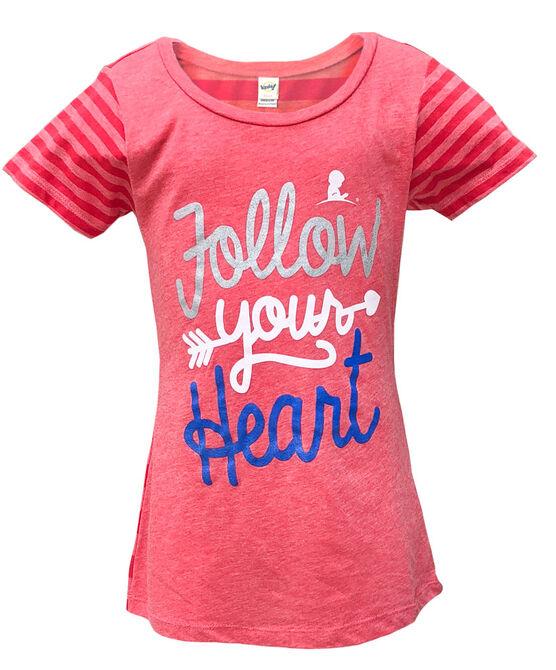 Kids Follow Your Heart Striped T Shirt