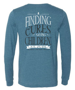 Finding Cures Saving Children Long-Sleeved Blue T-Shirt