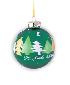 2021 Christmas Trees 3 Inch Glass Ornament