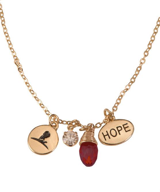 Garnet Drop Crystal Necklace