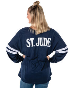 Women's Varsity Style Long Sleeve Shirt