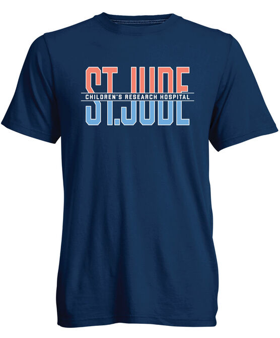Navy Multicolored Font TShirt