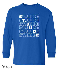 Kids St. Jude Diagonal Repeat Long Sleeve T-shirt