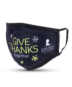Give Thanks Together Black Adult Face Mask with Filter Pocket