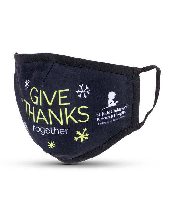 Give Thanks Together Black Adult Face Mask with Filter Pocket