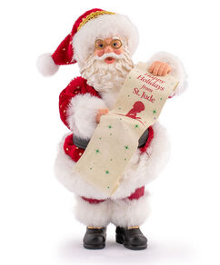 Santa with List Caucasian Figurine