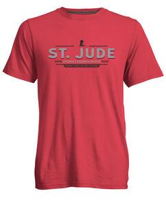 St. Jude Red Block Font T-Shirt