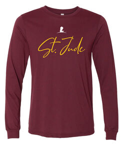 St. Jude Simple Script Red T-Shirt